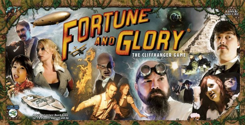 Fortune and Glory pulp fiction game played at Mancala Monk board gaming cafe